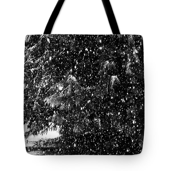 Tote Bag featuring the photograph Snow by Yulia Kazansky