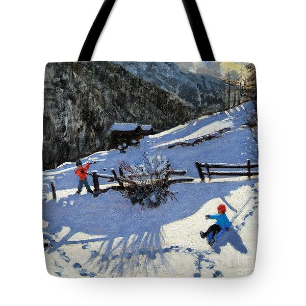 Snowballers Tote Bag by Andrew Macara