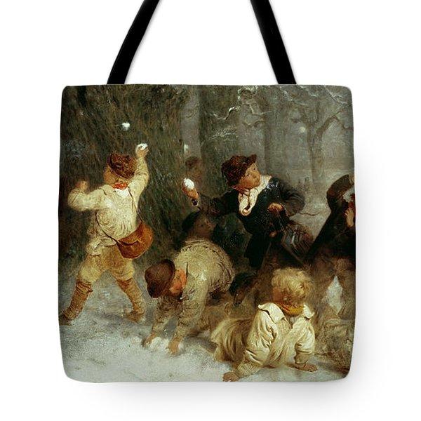 Snowballing Tote Bag by John Morgan