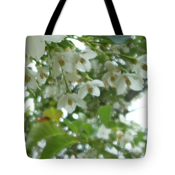 Snowbell Sparkles In Spring Tote Bag