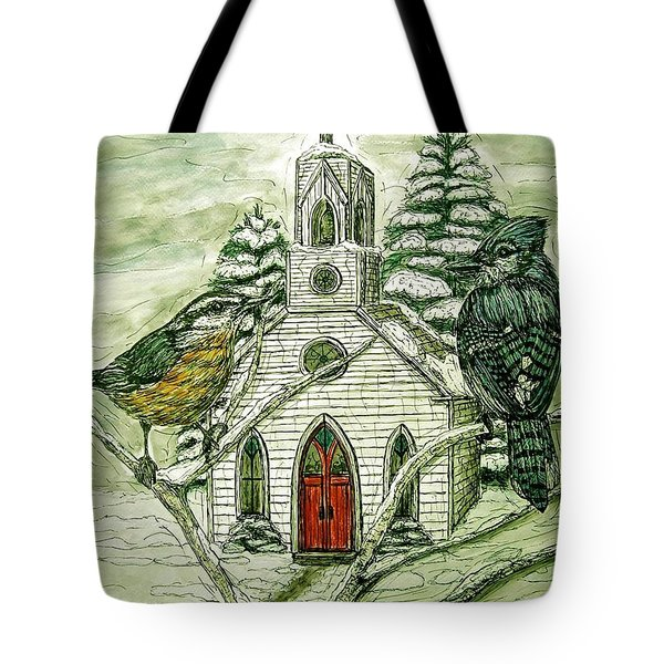 Snowbirds Visit St. Paul Tote Bag by Kim Jones