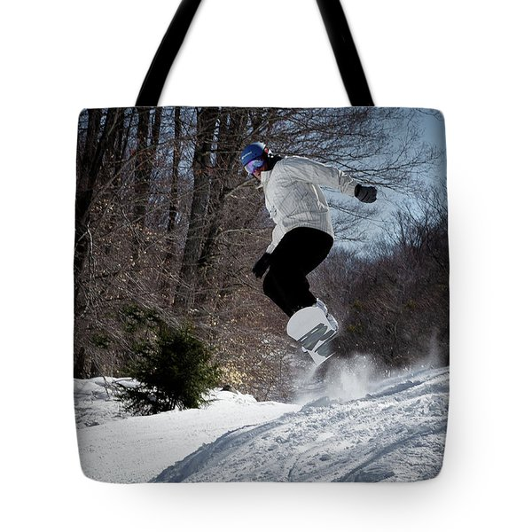 Tote Bag featuring the photograph Snowboarding Mccauley Mountain by David Patterson