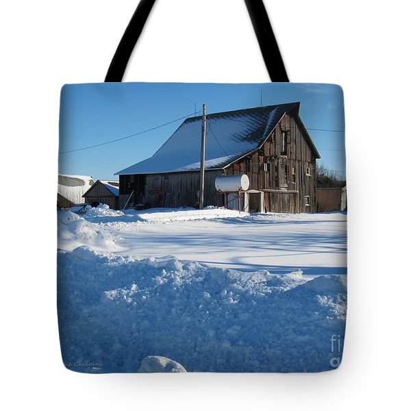 Tote Bag featuring the photograph Snowbound by Kathie Chicoine