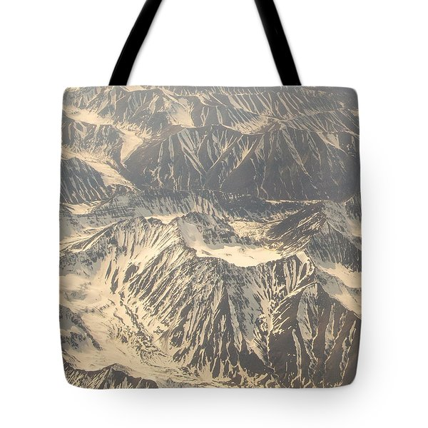 Snowcapped Inactive Volcano Tote Bag by Allan Levin