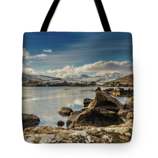 Tote Bag featuring the photograph Snowdon From Llynnau Mymbyr by Adrian Evans