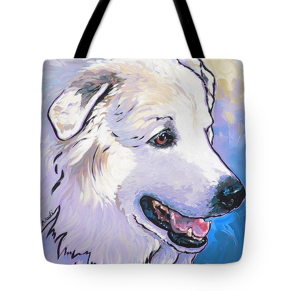 Snowdoggie Tote Bag by Nadi Spencer