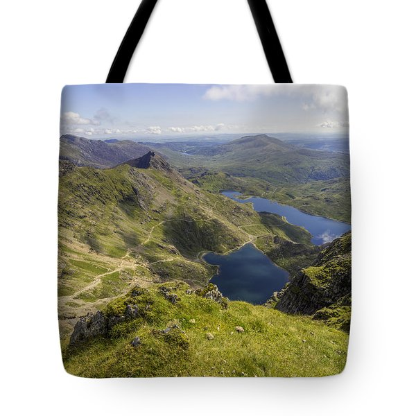 Snowdon Summit Tote Bag by Ian Mitchell