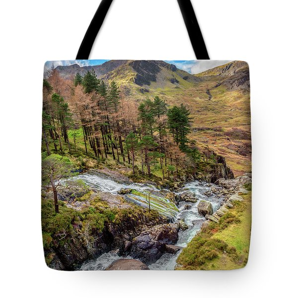 Snowdonia Landscape Winter Tote Bag by Adrian Evans