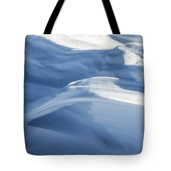 Tote Bag featuring the photograph Snowdrift Structure by Angela DeFrias