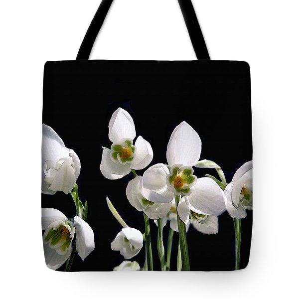 Snowdrop Flowers Tote Bag