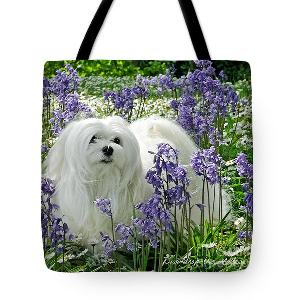 Snowdrop In The Bluebell Woods Tote Bag by Morag Bates