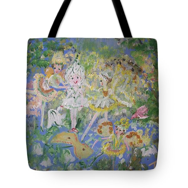 Snowdrop The Fairy And Friends Tote Bag by Judith Desrosiers