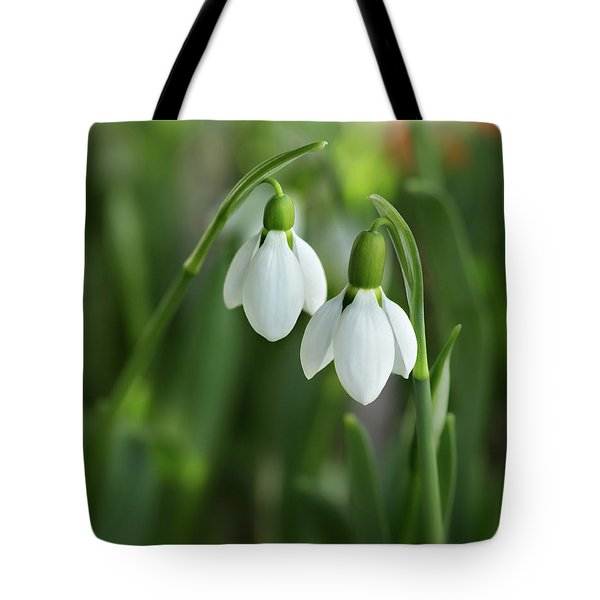 Tote Bag featuring the photograph Snowdrops by Mary Jo Allen