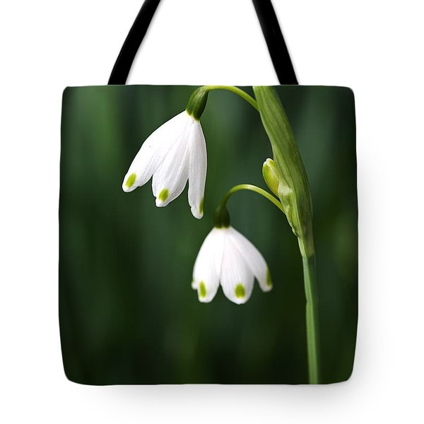 Snowdrops Painted Finger Nails Tote Bag