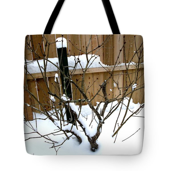 Tote Bag featuring the photograph Snowfall by Skyler Tipton
