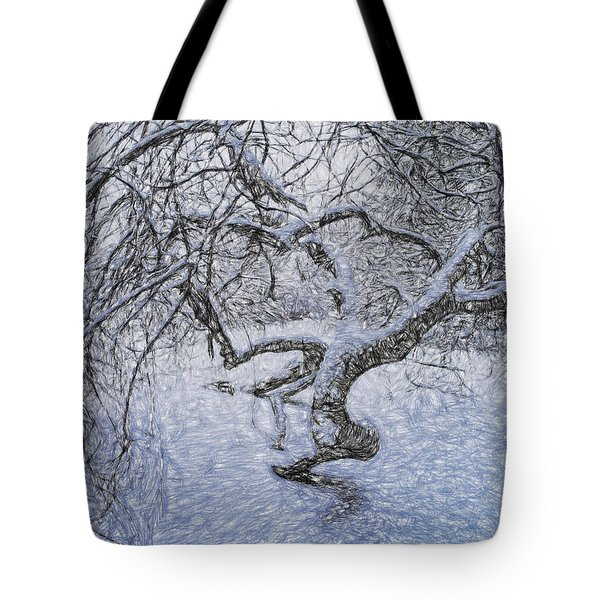 Tote Bag featuring the photograph Snowfall by Vladimir Kholostykh