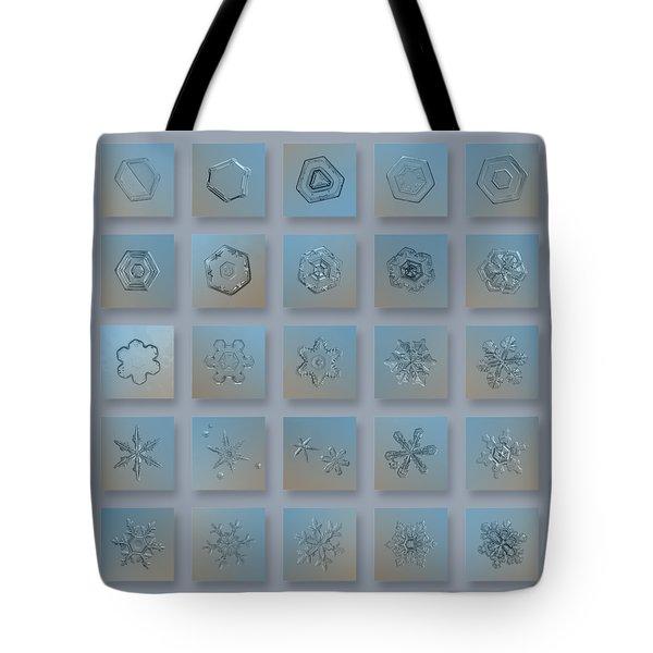 Snowflake Collage - Season 2013 Bright Crystals Tote Bag