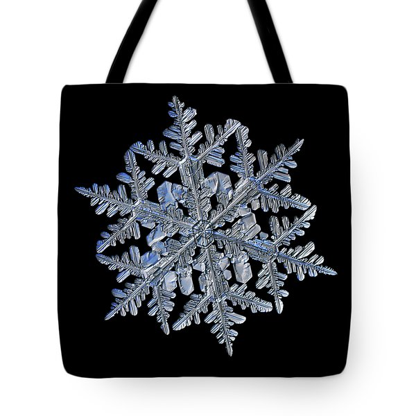 Snowflake Macro Photo - 13 February 2017 - 3 Black Tote Bag