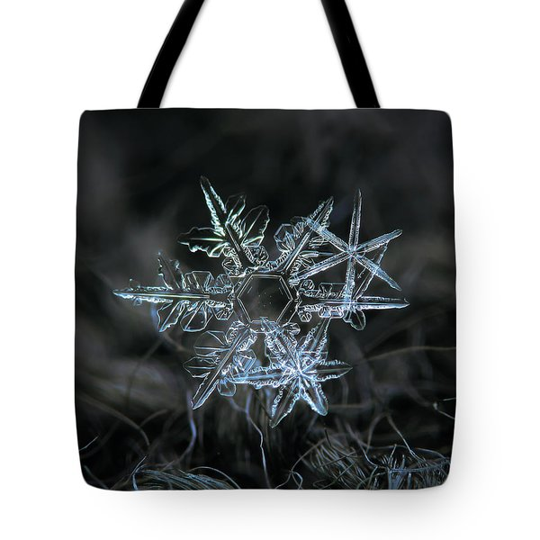 Tote Bag featuring the photograph Snowflake Of 19 March 2013 by Alexey Kljatov