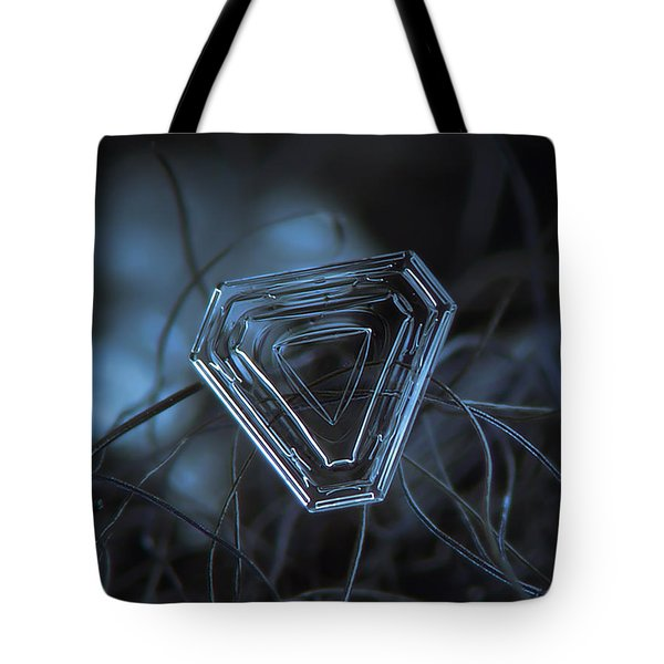 Snowflake Photo - Almost Triangle Tote Bag by Alexey Kljatov