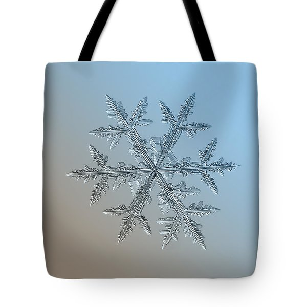 Tote Bag featuring the photograph Snowflake Photo - Asymmetriad by Alexey Kljatov