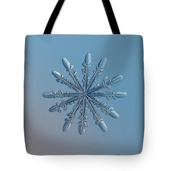 Snowflake Photo - Chrome Tote Bag by Alexey Kljatov