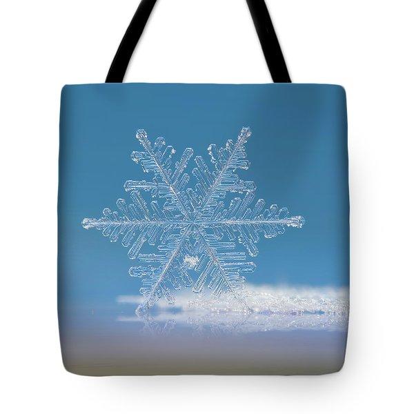 Snowflake Photo - Cloud Number Nine Tote Bag