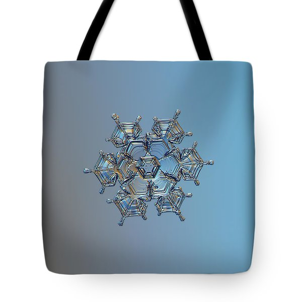 Tote Bag featuring the photograph Snowflake Photo - Flying Castle by Alexey Kljatov
