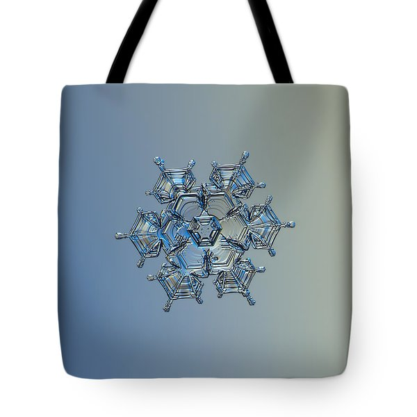 Tote Bag featuring the photograph Snowflake Photo - Flying Castle Alternate by Alexey Kljatov