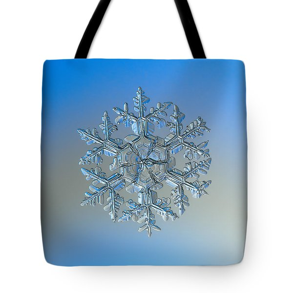 Tote Bag featuring the photograph Snowflake Photo - Gardener's Dream by Alexey Kljatov