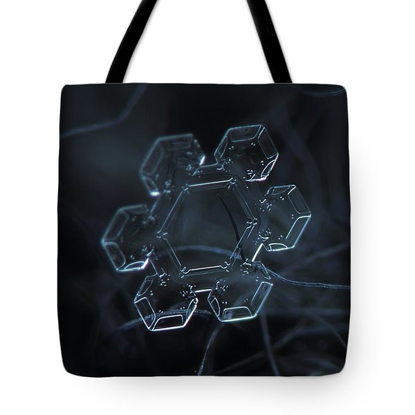 Snowflake Photo - Jewel Tote Bag