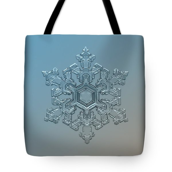 Snowflake Photo - Ornate Pattern Tote Bag