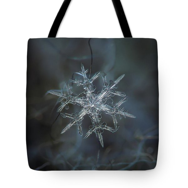 Tote Bag featuring the photograph Snowflake Photo - Rigel by Alexey Kljatov