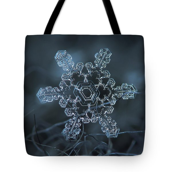 Snowflake Photo - Slight Asymmetry Tote Bag