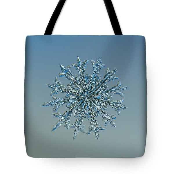 Tote Bag featuring the photograph Snowflake Photo - Twelve Months by Alexey Kljatov