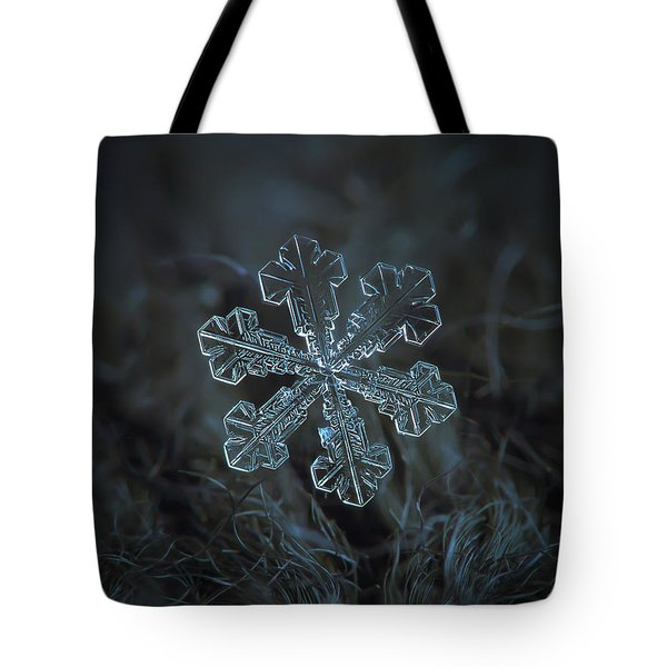 Tote Bag featuring the photograph Snowflake Photo - Vega by Alexey Kljatov