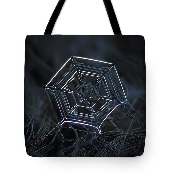 Snowflake Photo - Web Tote Bag by Alexey Kljatov