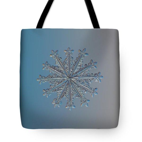 Snowflake Photo - Wheel Of Time Tote Bag