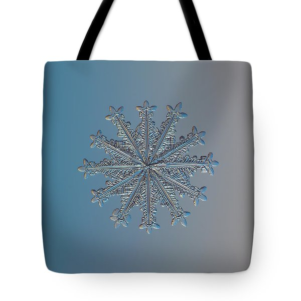 Snowflake Photo - Wheel Of Time Tote Bag