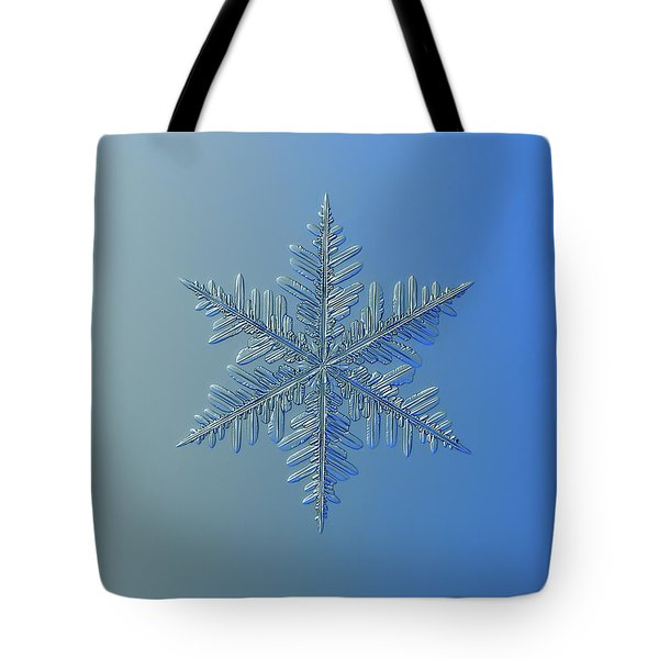 Tote Bag featuring the photograph Snowflake Photo - Winter Is Coming by Alexey Kljatov