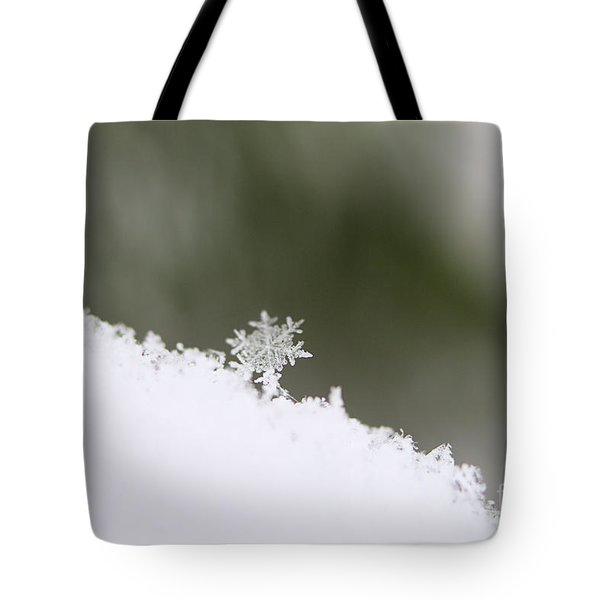 Snowflake Tote Bag by Victor K
