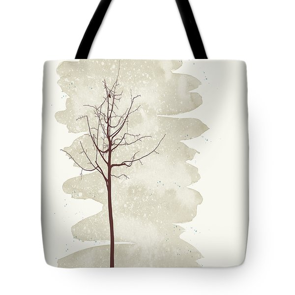 Snowflakes Swirl Tote Bag by Kandy Hurley