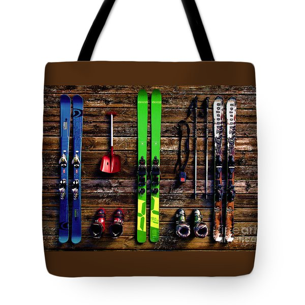 Tote Bag featuring the digital art Snowfun 2016 by Kathryn Strick
