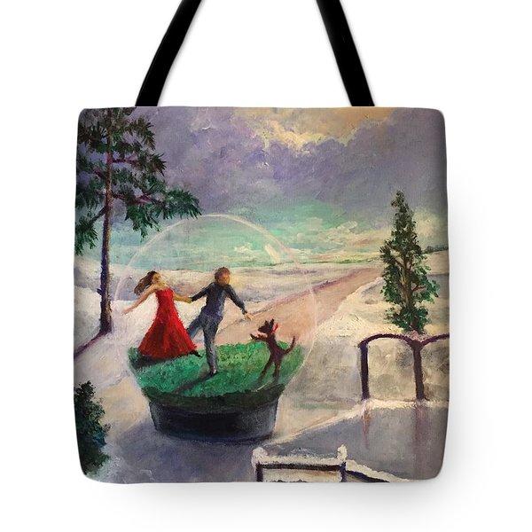 Snowglobe Tote Bag