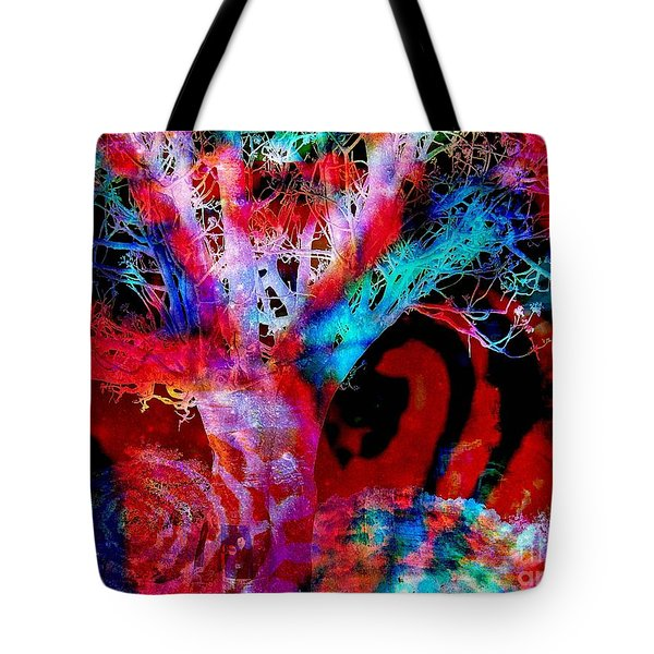 Snowing Baobab Tote Bag by Fania Simon