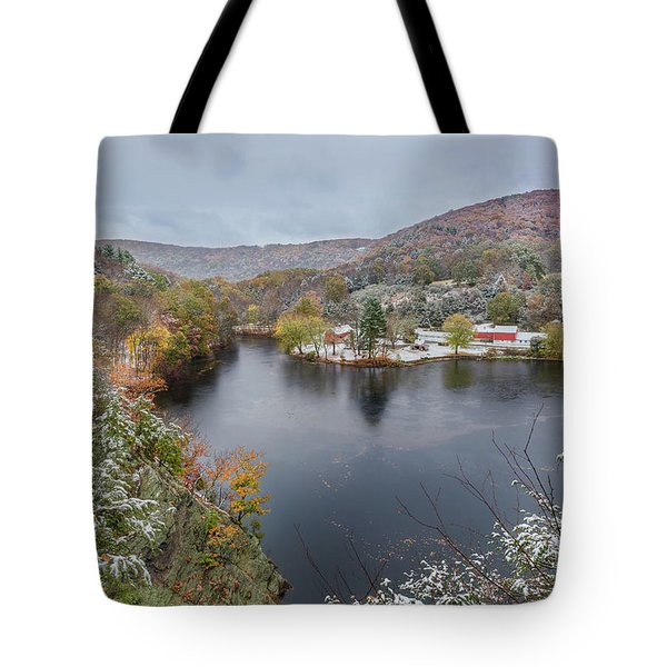 Tote Bag featuring the photograph Snowliage by Bill Wakeley
