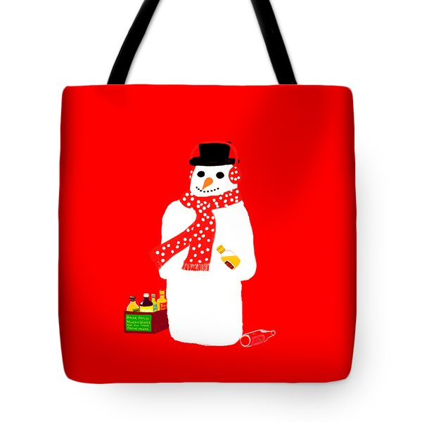 Snowman Tote Bag by Barbara Moignard