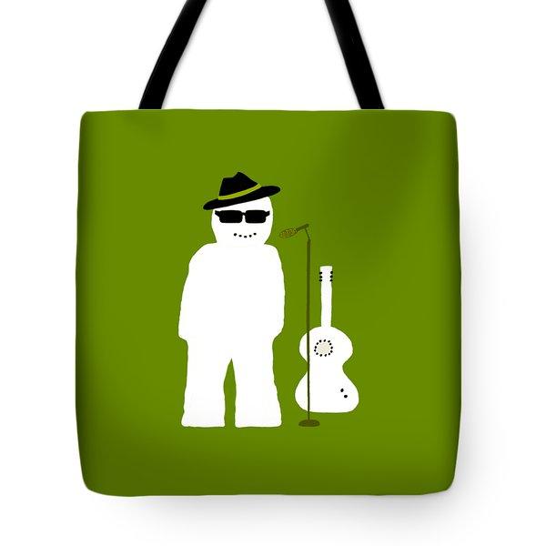 Snowman Musician Tote Bag by Barbara Moignard