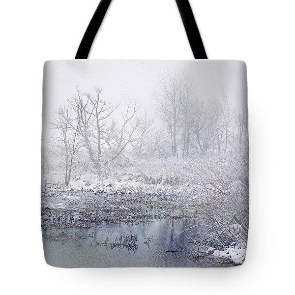 Snowmist Marsh Tote Bag by Kathi Mirto