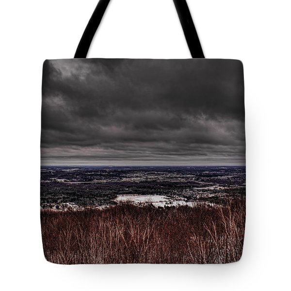 Snowstorm Clouds Over Rib Mountain State Park Tote Bag